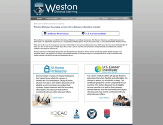 westondistancelearning.com screenshot