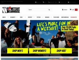wetsuitwearhouse.com screenshot