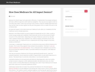 wewantmedicare.com screenshot
