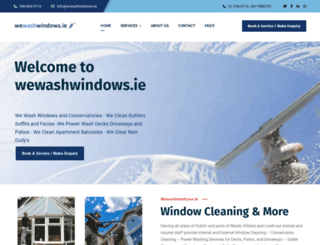 wewashwindows.ie screenshot