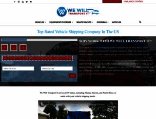 wewilltransportit.com screenshot