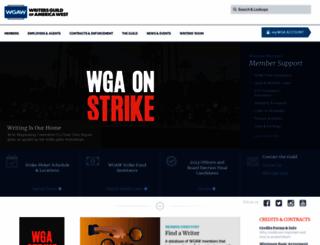 wga.org screenshot