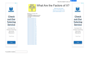 what-are-the-factors.com screenshot