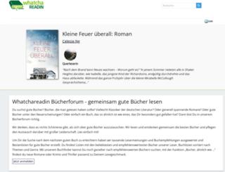 whatchareadin.de screenshot