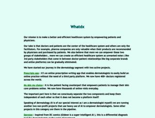 whatdx.com screenshot