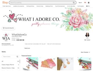 whatiadore.com screenshot