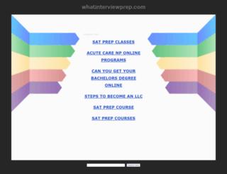 whatinterviewprep.com screenshot