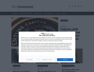whatinvestment.co.uk screenshot