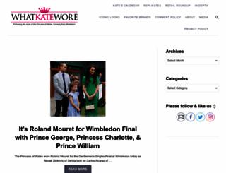 whatkatewore.com screenshot