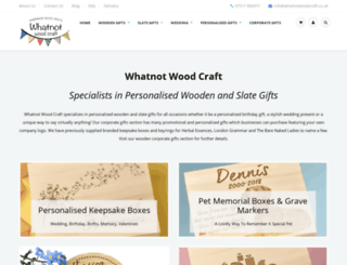 whatnotwoodcraft.co.uk screenshot