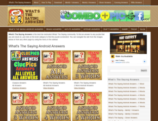 whats-thesayinganswers.com screenshot