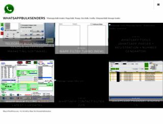 whatsappbulksenders.wordpress.com screenshot