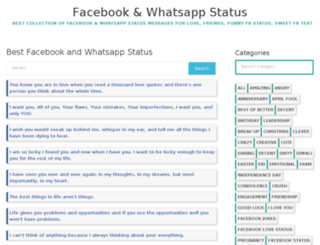whatsappfacebookstatus.com screenshot