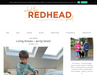 whattheredheadsaid.com screenshot