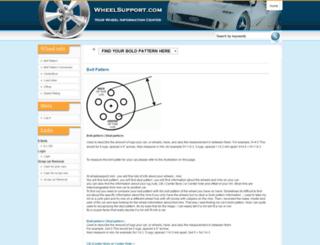 wheelsupport.com screenshot
