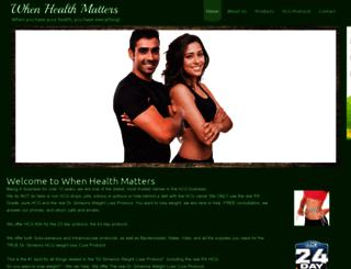 whenhealthmatters.com screenshot
