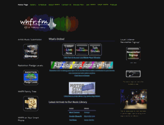 whfr.fm screenshot