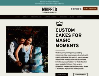 whippedbakeshop.com screenshot