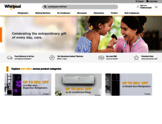 whirlpoolindia.com screenshot