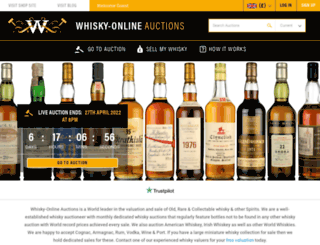 whisky-onlineauctions.com screenshot