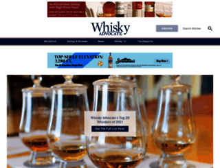 whiskyadvocate.com screenshot