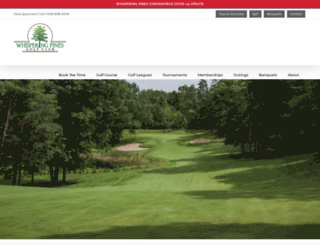 whisperingpinesgc.com screenshot