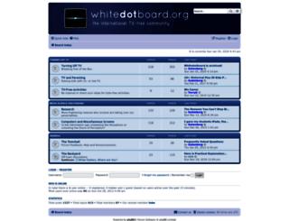 whitedotboard.org screenshot