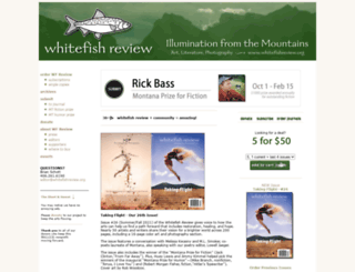 whitefishreview.org screenshot