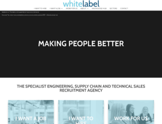 whitelabelrecruitment.co.uk screenshot