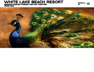 whitelakebeachresort.com screenshot