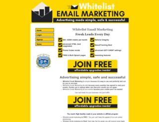 whitelist-email-marketing.com screenshot