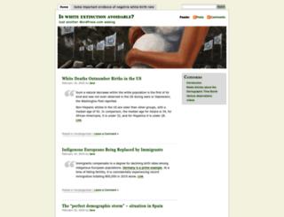 whiteminority.wordpress.com screenshot