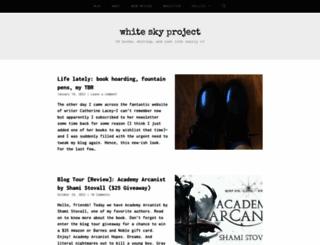 whiteskyproject.com screenshot