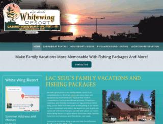 whitewingresort.com screenshot