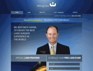 whitingclinic.com screenshot