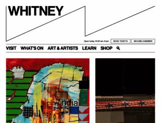 whitney.org screenshot
