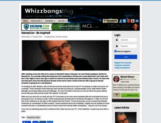 whizzbangsblog.com screenshot