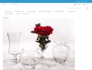 wholesale-glass-vases.com screenshot