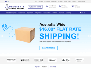 wholesalecateringsupplies.com.au screenshot