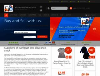 wholesaleclearance.co.uk screenshot