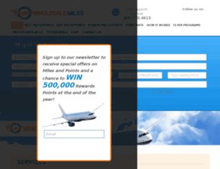 wholesalemiles.com screenshot