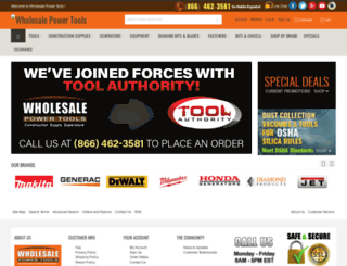 wholesalepowertools.com screenshot