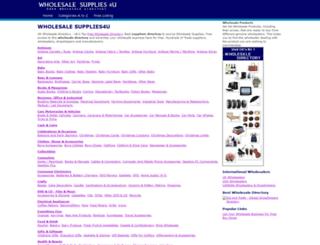 wholesalesupplies4u.co.uk screenshot