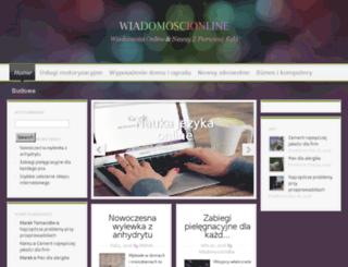 wiadomoscionline.co.pl screenshot
