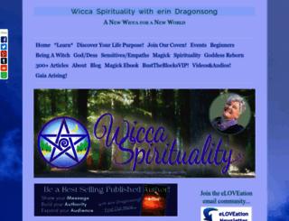 wicca-spirituality.com screenshot
