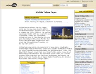 wichita-ks.yellowusa.com screenshot