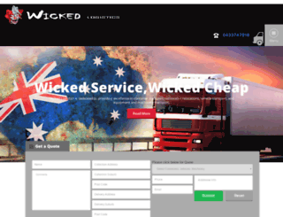 wickedlogistics.com.au screenshot