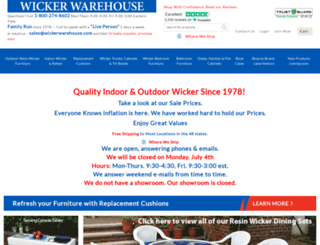 wickerwarehouse.com screenshot