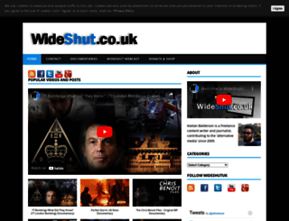 wideshut.co.uk screenshot