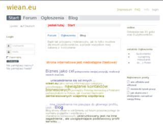 wiean.eu screenshot